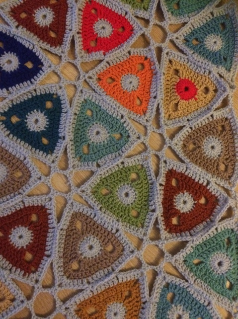 hexagonal blanket close up 3